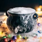 Dry ice candy cauldron