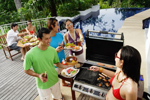 Pool party barbeque