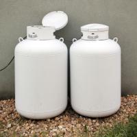 Couple of propane cylinders